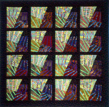 "Through the Windows of My Mind  256cm x 256cm     101"" x 101""Artist's collection – a landmark quilt, not for sale."